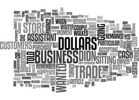WHATEVER HAPPENED TO CUSTOMER SERVICE TEXT WORD CLOUD CONCEPT