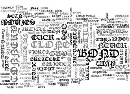 summer's: WHATEVER HAPPENED TO JAMES BOND TEXT WORD CLOUD CONCEPT Illustration