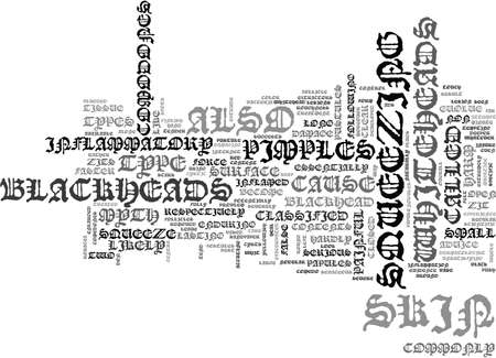 WHATEVER YOU DO DON T SQUEEZE THAT ZIT TEXT WORD CLOUD CONCEPT Illustration