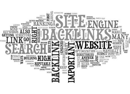 いただきましたバックリンクのテキスト単語クラウドのコンセプト  イラスト・ベクター素材