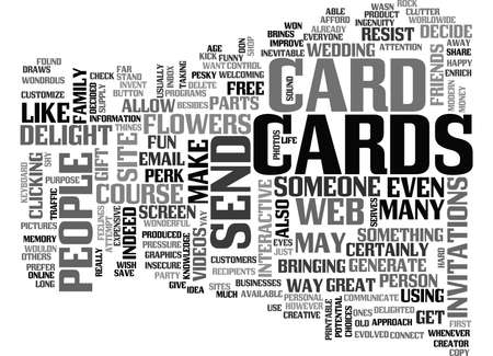 WHATS SO GREAT ABOUT E CARDS TEXT WORD CLOUD CONCEPT