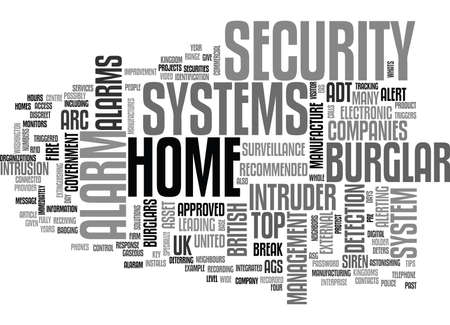WHATS THE TOP BURGLAR ALARM TEXT WORD CLOUD CONCEPT