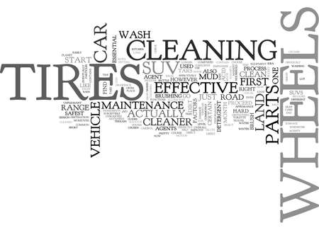 short trip: WHEEL AND TIRE MAINTENANCE FOR YOUR SUV TEXT WORD CLOUD CONCEPT