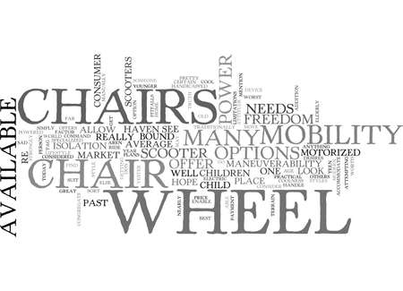WHEEL CHAIRS WITH ATTITUDE TEXT WORD CLOUD CONCEPT