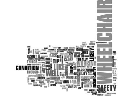 WHEELCHAIR SAFETY TEXT WORD CLOUD CONCEPT