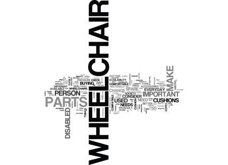 WHEELCHAIR SPARES TEXT WORD CLOUD CONCEPT