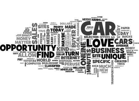 peruse: WHEN AUTO SALES SAIL TEXT WORD CLOUD CONCEPT Illustration