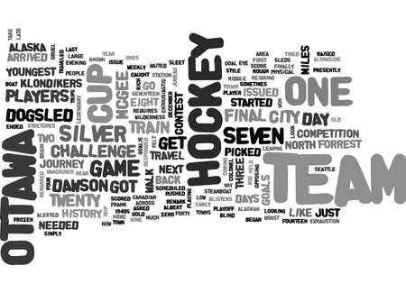 WHEN HOCKEY PLAYERS WERE TOUGH TEXT WORD CLOUD CONCEPT
