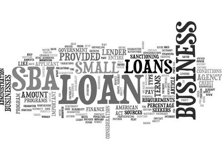 WHEN INVESTORS SAY NO MAYBE YOUR BANK WILL SAY YES WITH A LITTLE HELP FROM THE GOVERNMENT TEXT WORD CLOUD CONCEPT