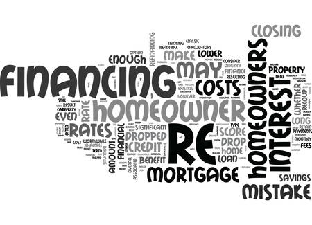 WHEN IS IT A MISTAKE TO RE FINANCE TEXT WORD CLOUD CONCEPT
