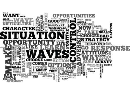 WHEN LIFE GIVES YOU WAVES LEARN TO S U R F TEXT WORD CLOUD CONCEPT Banco de Imagens - 79618847