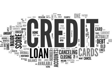 WHEN NOT TO CANCEL CREDIT CARDS TEXT WORD CLOUD CONCEPT Ilustrace