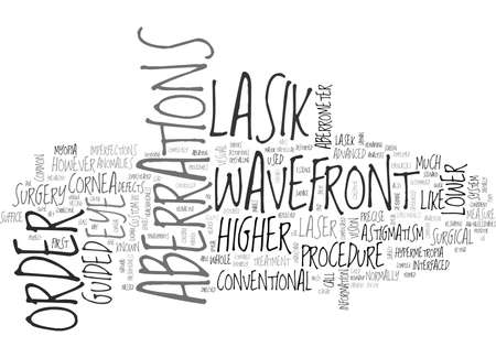 WHEN SHOULD YOU CONSIDER WAVEFRONT GUIDED LASIK EYE SURGERY TEXT WORD CLOUD CONCEPT Imagens - 79618930