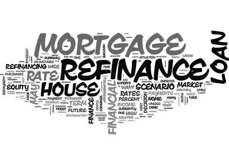 WHEN SHOULD YOU REFINANCE YOUR HOUSE TEXT WORD CLOUD CONCEPT Illustration