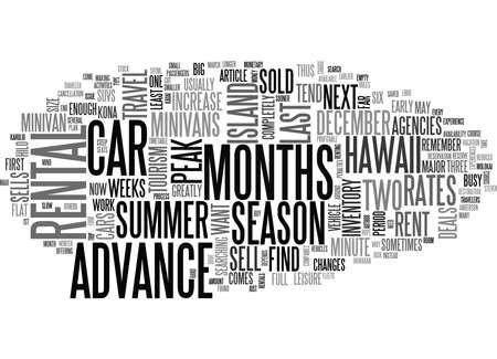 WHEN SHOULD YOU RENT A CAR FOR YOUR TRIP TO HAWAII TEXT WORD CLOUD CONCEPT