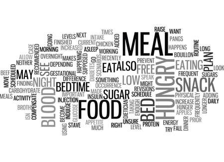 WHEN YOU ARE HUNGRY IN BETWEEN MEALS TEXT WORD CLOUD CONCEPT