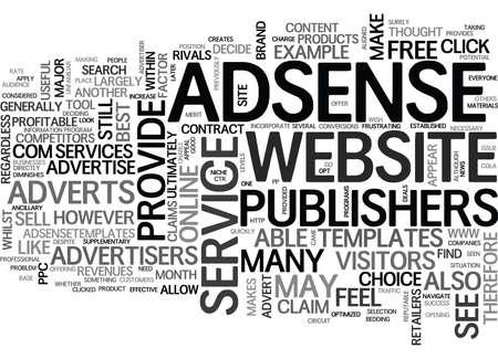 WHERE ADSENSE SHOULD APPEAR TEXT WORD CLOUD CONCEPT