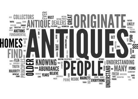 accumulations: WHERE ANTIQUES ORIGINATE TEXT WORD CLOUD CONCEPT