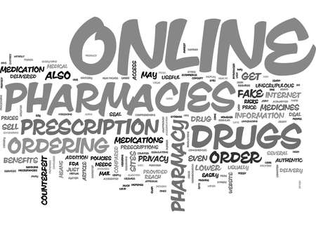 WHERE CAN I ORDER DRUGS ONLINE A PRIMER TEXT WORD CLOUD CONCEPT Illustration