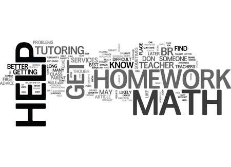 WHERE CAN YOU GET MATH HOMEWORK HELP TEXT WORD CLOUD CONCEPT