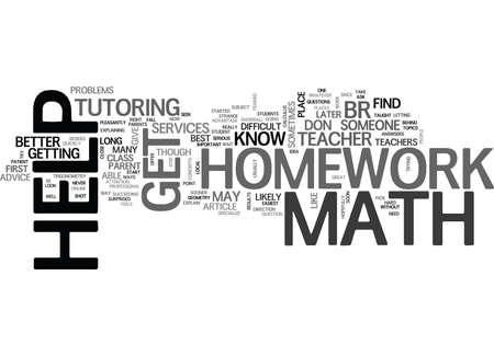 WHERE CAN YOU GET MATH HOMEWORK HELP TEXT WORD CLOUD CONCEPT