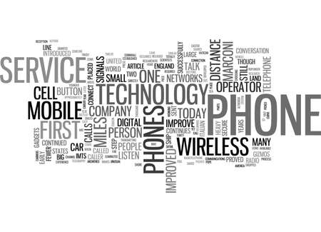WHERE DID THOSE CELL PHONES COME FROM TEXT WORD CLOUD CONCEPT Illustration