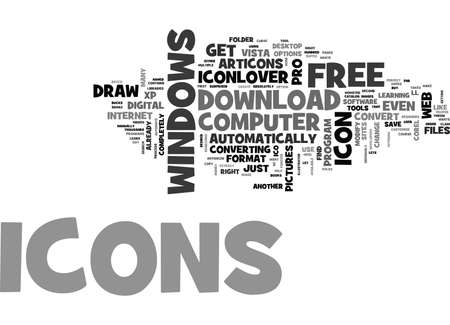 WHERE DO I CLAIM MY FREE ICONS TEXT WORD CLOUD CONCEPT Illustration