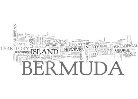 WHERE IS BERMUDA TEXT WORD CLOUD CONCEPT