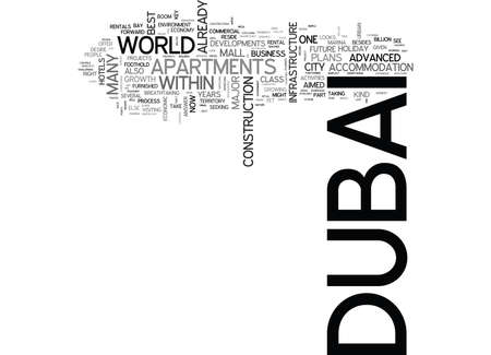 WHERE IS DUBAI HEADED FROM HERE ON TEXT WORD CLOUD CONCEPT