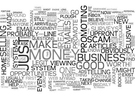 WHERE IS THAT ELUSIVE HOME BUSINESS TEXT WORD CLOUD CONCEPT