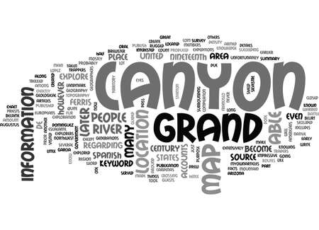 WHERE IS THE GRAND CANYON TEXT WORD CLOUD CONCEPT