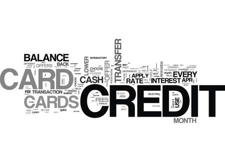 WHICH CREDIT CARD TO APPLY FOR TIPS TO HELP YOU CHOOSE TEXT WORD CLOUD CONCEPT Illustration