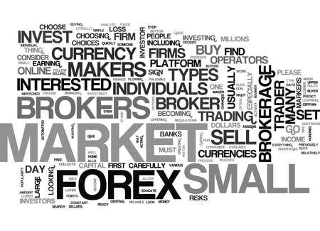 どの外国為替ブローカーお金本文の単語雲概念を与える必要があります。