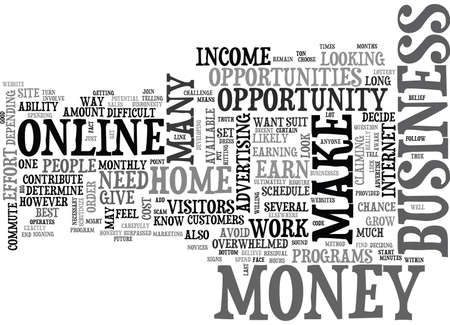 WHICH HOME BUSINESS OPPORTUNITY SHOULD I CHOOSE TEXT WORD CLOUD CONCEPT
