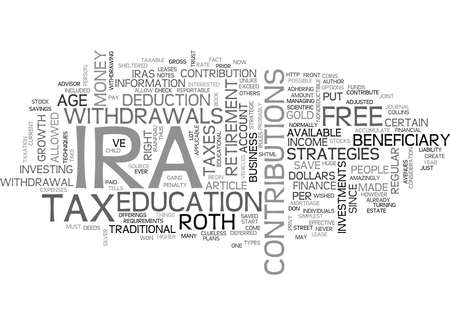 deeds: WHICH IRA IS BEST FOR YOU TEXT WORD CLOUD CONCEPT Illustration