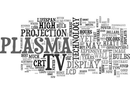 lcd tv: WHICH IS BETTER TO BUY A LCD OR A PLASMA TV CONFUSED TEXT WORD CLOUD CONCEPT