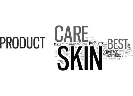 WHICH IS THE BEST SKIN CARE PRODUCT TEXT WORD CLOUD CONCEPT Иллюстрация
