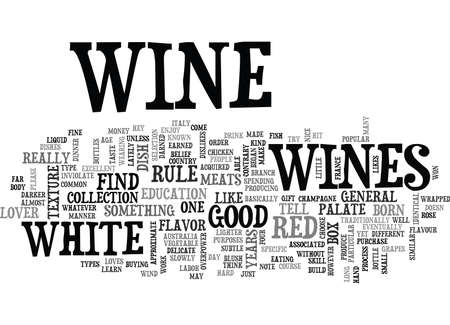WITH WINES THERE IS A FLAVOUR FOR ALMOST ANY TASTE TEXT WORD CLOUD CONCEPT Иллюстрация