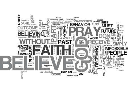 신앙을 잃지 않고도 신의 텍스트 말의 개념을 이해하는 것은 불가능합니다.