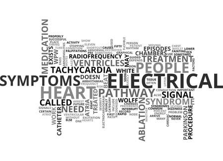 WOLF PARKINSON WHITE SYNDROME TEXT WORD CLOUD CONCEPT