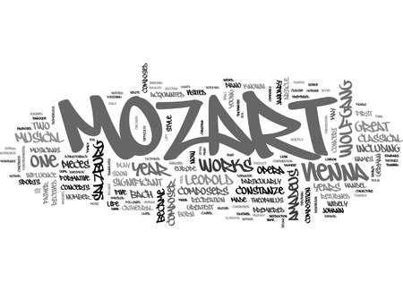 amadeus mozart: WOLFGANG AMADEUS MOZART MOZART YEAR TEXT WORD CLOUD CONCEPT