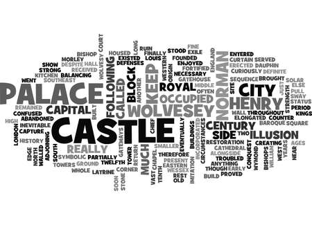 WOLVESEY CASTLE TEXT WORD CLOUD CONCEPT