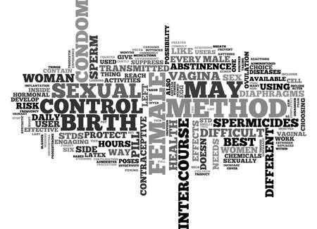 sexual activity: WOMEN AND BIRTH CONTROL TEXT WORD CLOUD CONCEPT