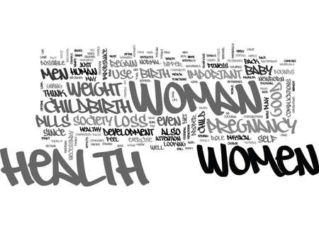 WOMEN AND CHILDBIRTH TEXT WORD CLOUD CONCEPT Ilustrace