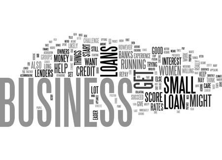 WOMEN BUSINESS LOANS TEXT WORD CLOUD CONCEPT