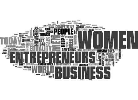 女性起業家のテキスト単語クラウドの概念