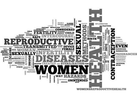 WOMEN HEALTH REPRODUCTIVE TEXT WORD CLOUD CONCEPT Illustration