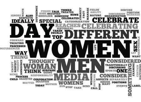 matter: WOMEN S DAY SHOULD IT BE CELEBRATED TEXT WORD CLOUD CONCEPT Illustration