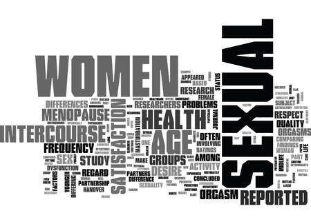 WOMEN S SEXUAL HEALTH AGE DOESN T MATTER TEXT WORD CLOUD CONCEPT Illustration