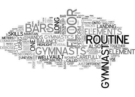 second floor: WOMENS GYMNASTIC ELEMENTS TEXT WORD CLOUD CONCEPT